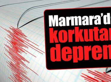 MARMARA'DA KORKUTAN DEPREM!BALIKESİR'DE DE HİSSEDİLDİ..