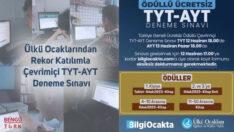 Ülkü Ocaklarından rekor katılımla çevrimiçi TYT-AYT deneme sınavı