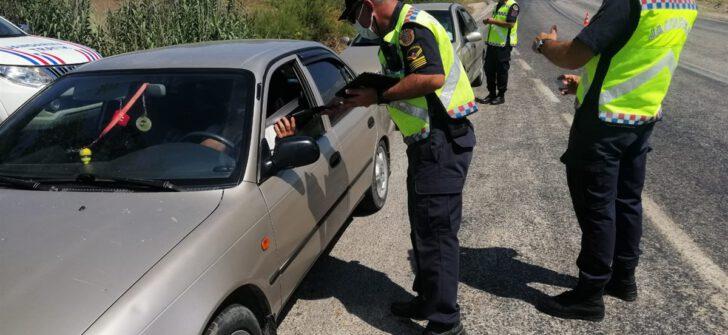 Yapılan denetimler sonucunda (1.164) araç kontrol edildi