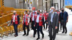 Vali Şıldak Balıkesir Elektromekanik Sanayi (BEST) Fabrikası Beksan Çivi Tel Makina Fabrikasında incelemede bulundu.