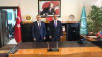 MHP MYK Üyesi Doç. Dr. Burhan Coşkun'dan Rektör Kuş'a ziyaret