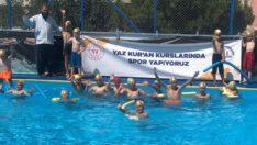 Yaz Kur'an kurslarına devam eden çocuklarımıza #YüzmeBilmeyenKalmasın projesi