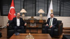 CHP Balıkesir Milletvekili Fikret Şahin Başkan YILMAZ'ı ziyaret etti