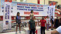 Ankara'da düzenlenen Muay Thai Türkiye Şampiyonasında dereceye girdiler