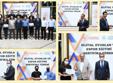 Dijital Oyunlar ve Espor Eğitimi Sertifika Töreni