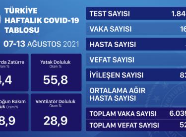 GÜNLÜK COVID-19TABLOSU