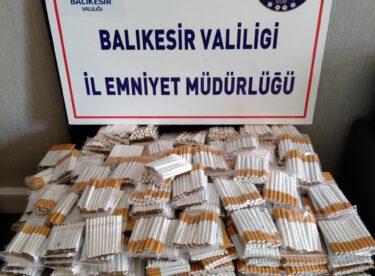 (11.100) adet Doldurulmuş Makaron Sigara ele geçirilmiştir.
