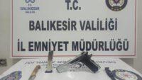 RUHSATSIZ SİLAH ELE GEÇİRİLDİ