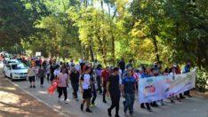 """Değirmen Boğazı'nda  """"Halk Yürüyüşü"""" yoğun katılımla gerçekleştirildi."""