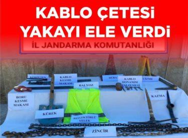 KABLO HIRSIZLARI YAKALANDI