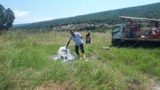 Balıkesir'de bir vatandaşın tarlasından soda fışkırdı