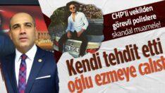 CHP Balıkesir MilletvekiliFikret Şahinpolisleri tehdit etti oğlu arabayla ezmeye çalıştı!