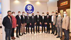Sağlık-Sen Genel Başkanı Semih Durmuş Vali Şıldak'ı ziyaret etti